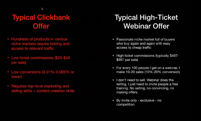 Difference between Click bank and Invite only offer